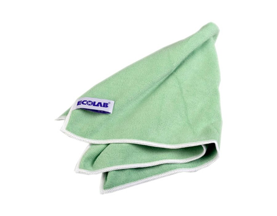 Ecolab  -  POLIFIX  MICROCLIN  GREEN  Салфетка  «Микроклин»  тканая,  микрофибра.  ID110491